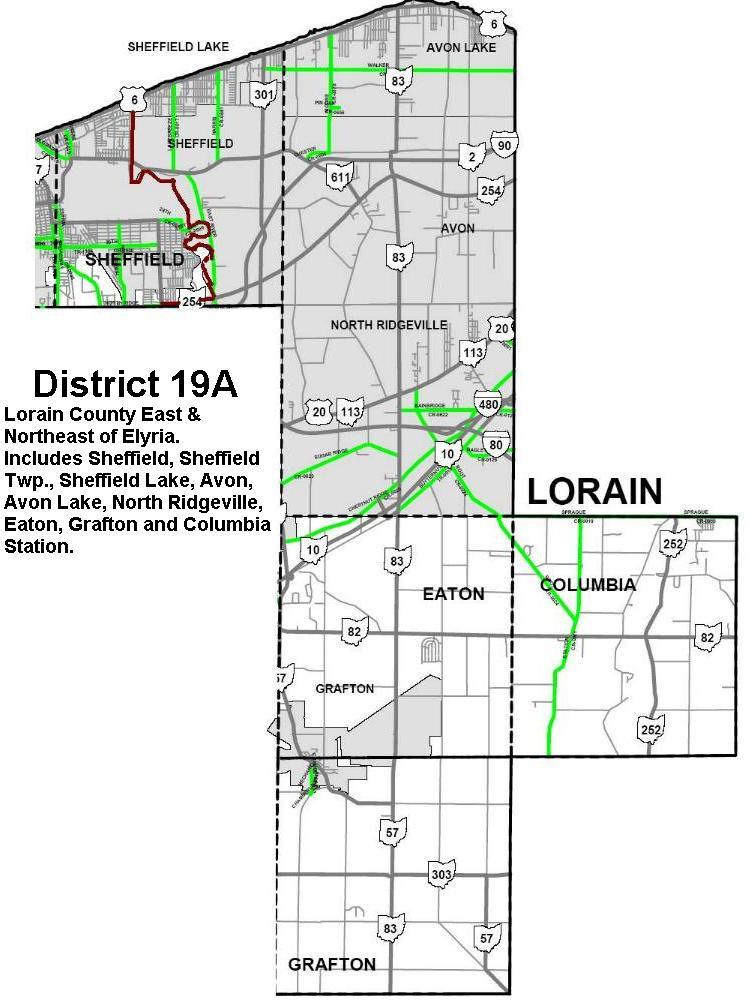 Lorain MultiDistrict 19A 19B 20A 20B 20C